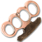 """Godfather"" Brass Knuckles Paperweight - Copper"