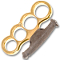 """Godfather"" Gold Brass Knuckles"