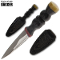 Scottish Dagger - Double Edged Sgian Dubh Highlander & Sheath
