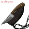 Red Deer Patch Hunting Knife with Leather Sheath