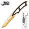 Black Legion Gold Tactical Neck Necklace Knife with Sheath