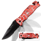 Red Spider Handle Spring Assisted Opening Tactical Pocket Knife