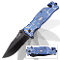 Blue Spider Handle Spring Assisted Opening Tactical Pocket Knife