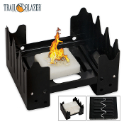 Folding Pocket Stove With Eight Wax Fuel Cubes Camping Survival